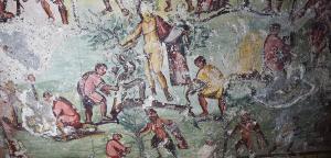Ve starověké římské hrobce byly nalezeny nástěnné komiksy!