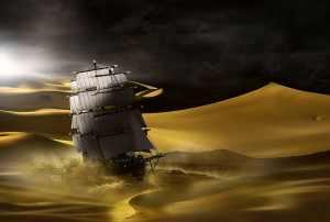 Svědectví o španělských galeonách uprostřed pouště