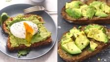 Pan de centeno con aguacate y huevo