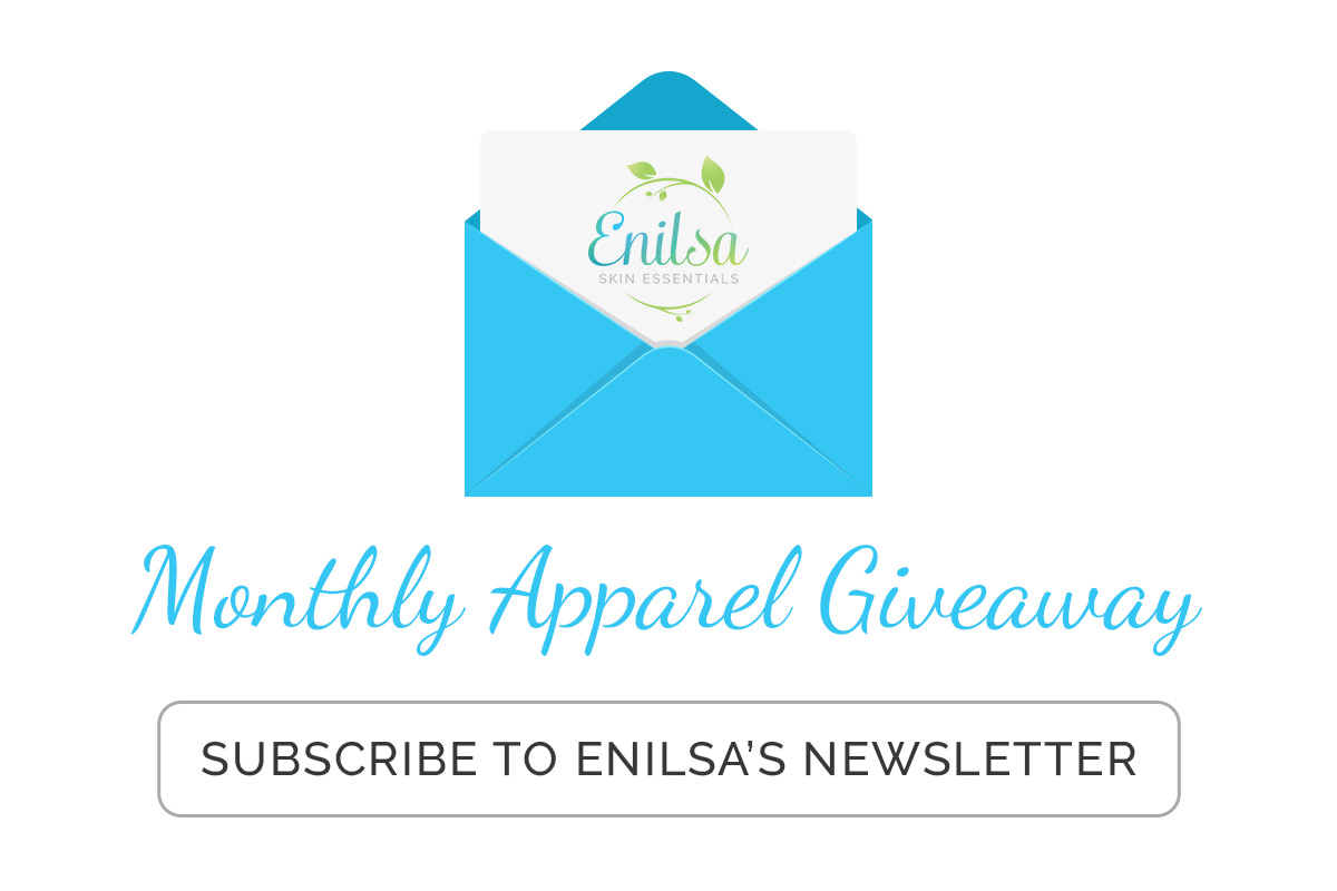 Monthly apparel giveaway contest for all newsletter subscribers