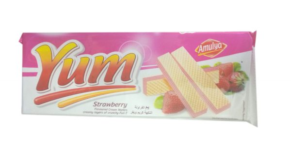 AMULYA YUM STRAWBERRY WAFER 200G