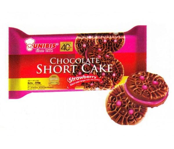 UNIBIS CHOCOLATE SHORT CAKE - STRAWBERRY