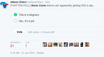 Marie Claire Poll