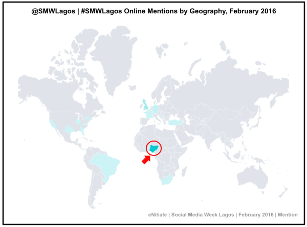 eNitiate_SMW_Lagos_MEntions_By_Geography_Mention_February_2016