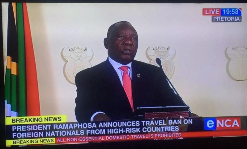 eNitiate | eNews | Coronavirus | South Africa | President Cyril Ramaphosa |15 Mar 2020 -1