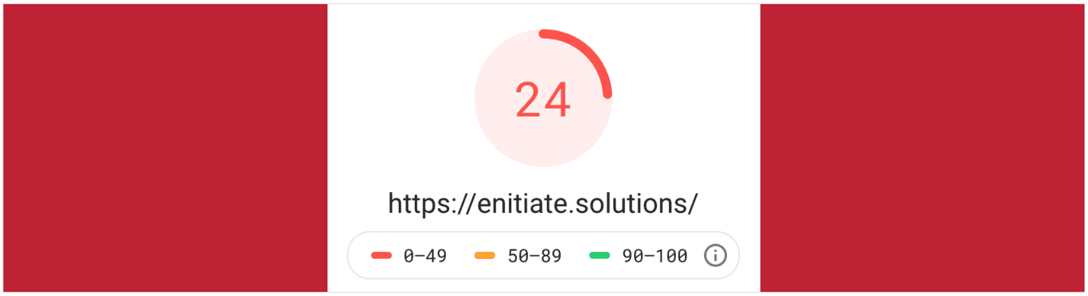 eNitiate Website | 12-day SEO Challenge | Google Pagespeed Test for Mobile | 5 Apr 2020