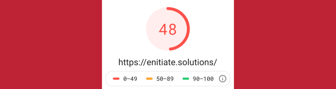 eNitiate Website | Day 8 of 12-day challenge | Google Pagespeed Test for Mobile | 13 Apr 2020 | Banner