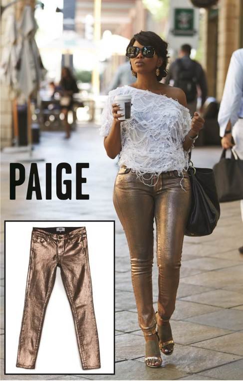 South African Hollywood Star Terry Pheto Spotted Wearing