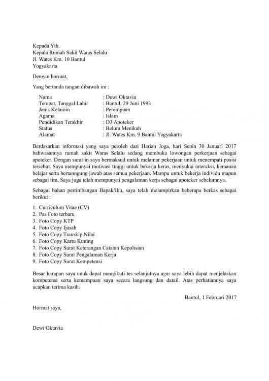 17+ Contoh Surat Lamaran Kerja Yang Membuat Kamu Diterima ...