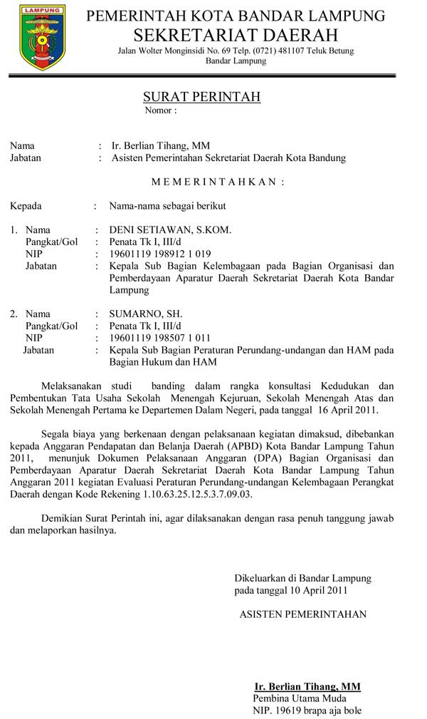 15 Contoh Surat Resmi Cara Membuat Undangan Pemerintah