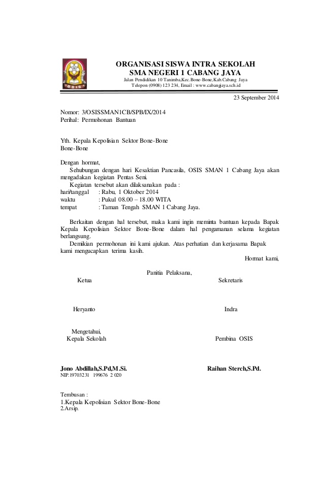 15 contoh surat resmi cara membuat undangan pemerintah kepala sekolah ibrahim wahyudi nip 1369854697852324 contoh surat osis stopboris Gallery