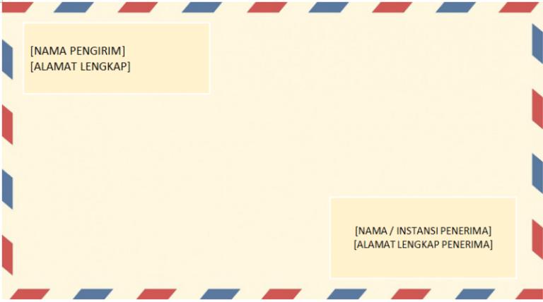 contoh amplop surat izin
