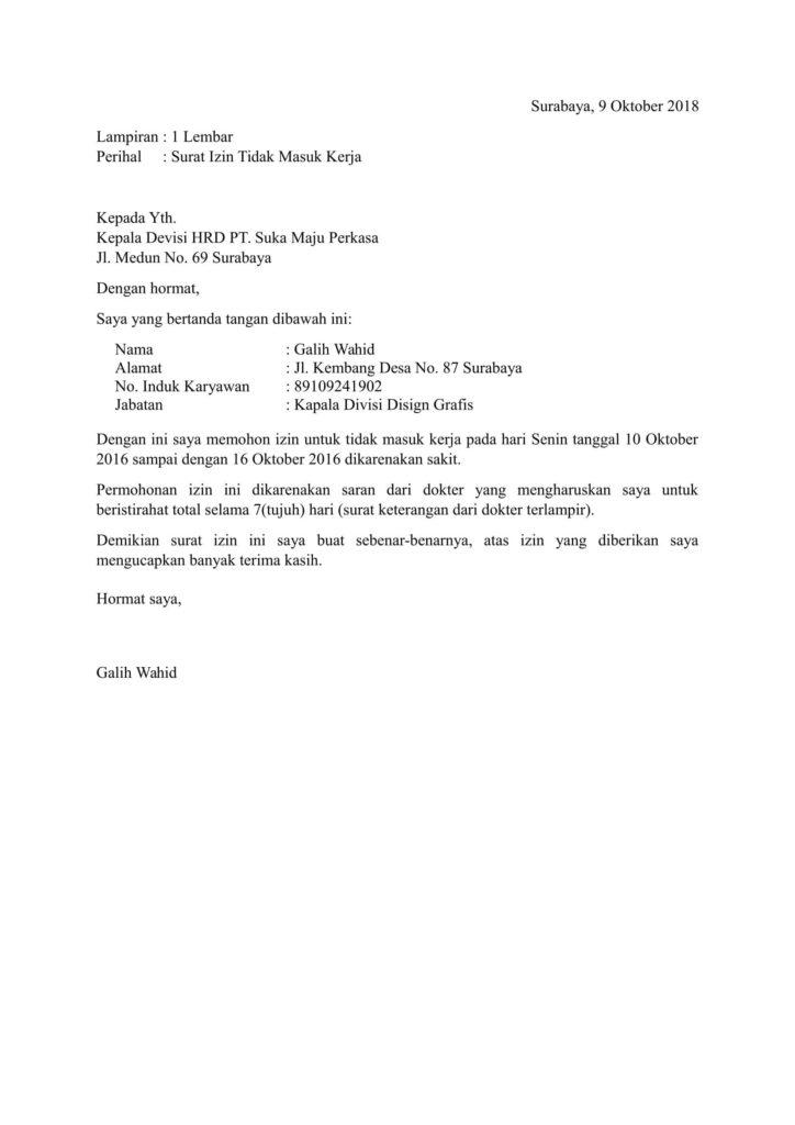 20 Contoh Surat Keterangan Izin Kerja Dari Desa