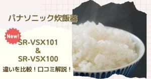 SR-VSX101とSR-VSX100の違いを比較!口コミ評判は?