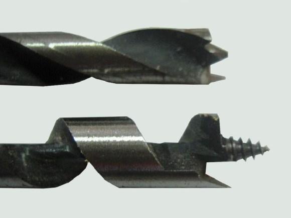 ドリル刃-木工用-鉄鋼用-先端-形状-違い