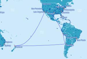 Oneworld Verbindungen von Chile - Neuseeland