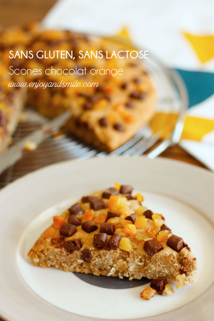 Pour se régaler au petit-déjeuner, rien de mieux que ces scones chocolat orange (sans gluten ni lactose)