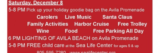Winter Holiday in Avila Beach