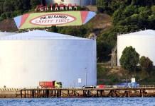 Storage tank in Pulau Sambu Batam