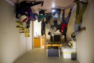 Upside down living room