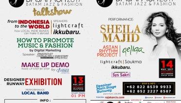 Batam Jazz and Fashion, Bajafash 2017 13 & 14 Mei 2017