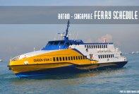 Batam Singapore Ferry Schedule