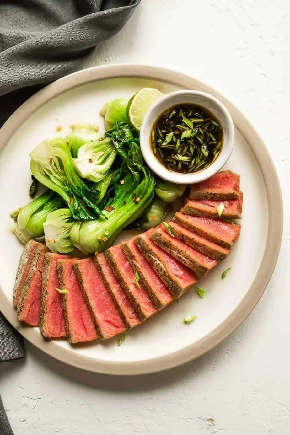 Air Fryer Keto Tuna Steaks