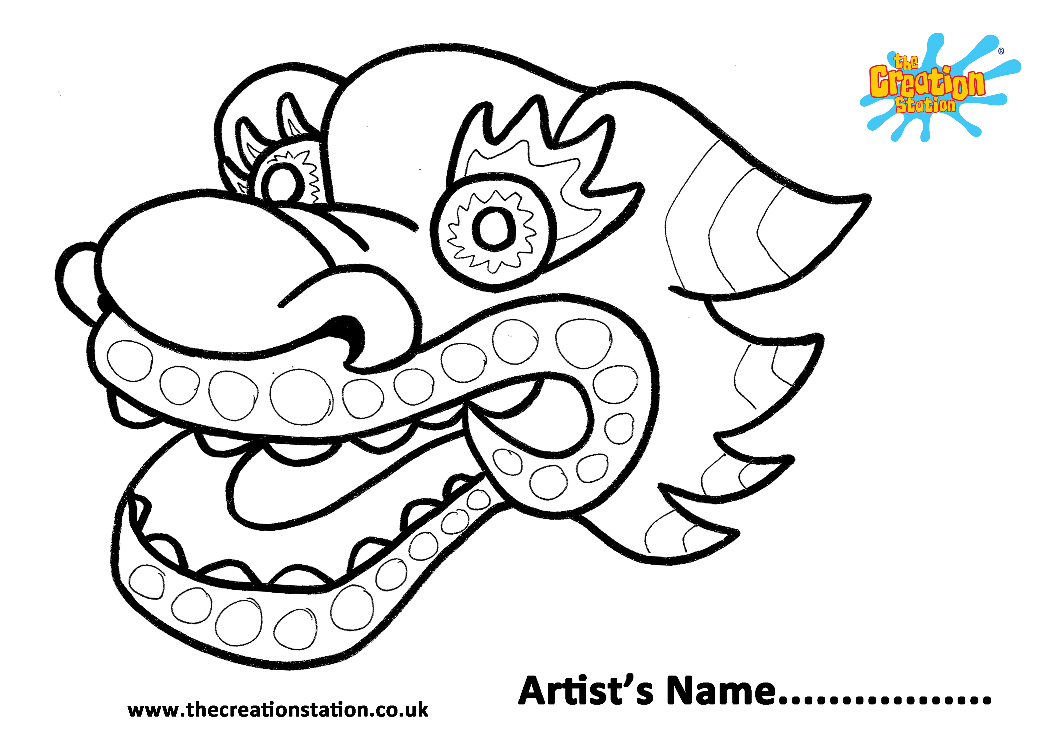Chinese Dragon Worksheets