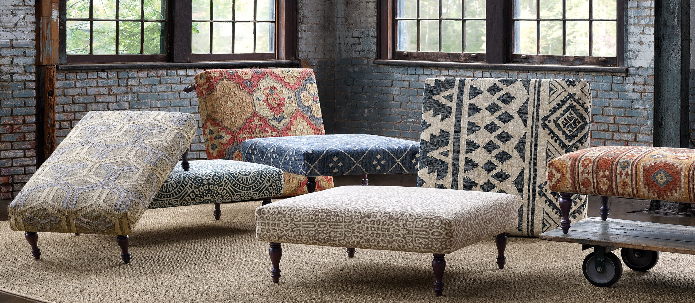 Ottomans Cubes Bell Tower Lake House Living Co