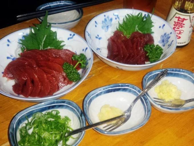 馬刺し 鹿刺し Horse sashimi Deer sashimi