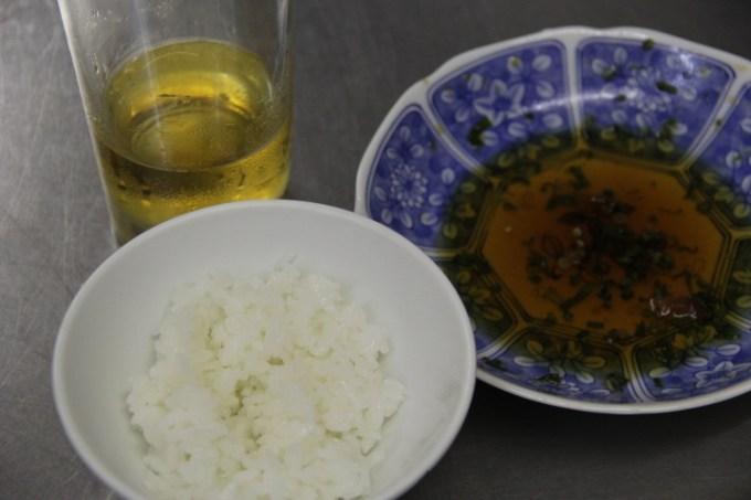 鶏のから揚げ 油淋ソースがけ 白飯