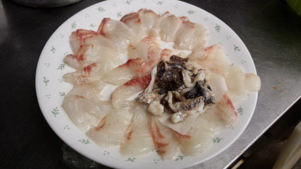 鯛づくし 鯛しゃぶ 鯛の刺身 鯛の皮の湯引き