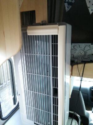 【快適化・設置】キャンピングカーにウィンドウエアコンを設置しました(熱風対応)