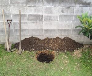 直径、深さ共に40~50cmほどの穴