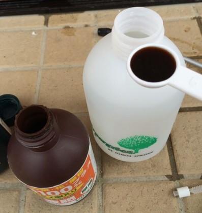 液肥を希釈する