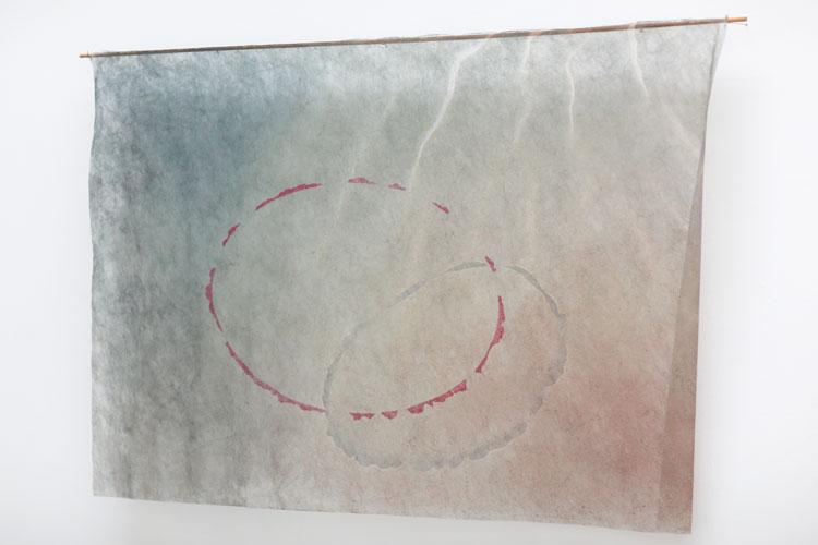 """""""Omlopp"""", 1987, inkjet på fiberduk - konstverk av Curt Asker."""