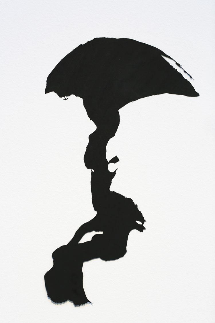 """Utpost"", 1995, etsat fiberstål + akryl - konstverk av Curt Asker."
