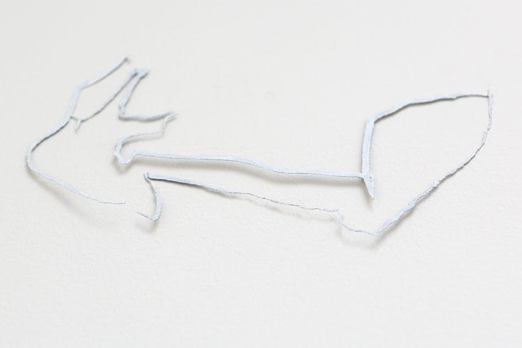 """""""Skuggorna dessa uthuggna drömmar"""", etsat fiberstål + akryl, konstverk av Curt Asker."""