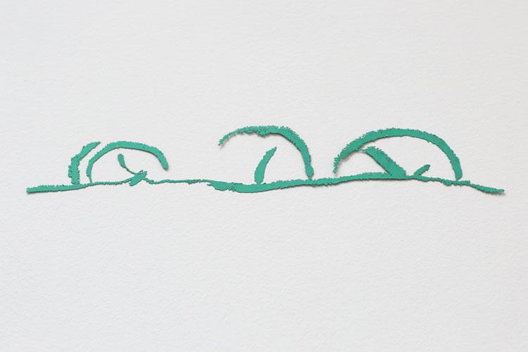 """""""Läge"""", 2003, etsat fiberstål + akryl, konstverk av Curt Asker."""