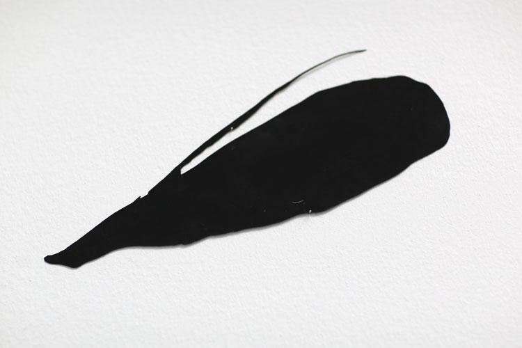 """""""Frö"""", 2005, etsat fiberstål + akryl, konstverk av Curt Asker."""