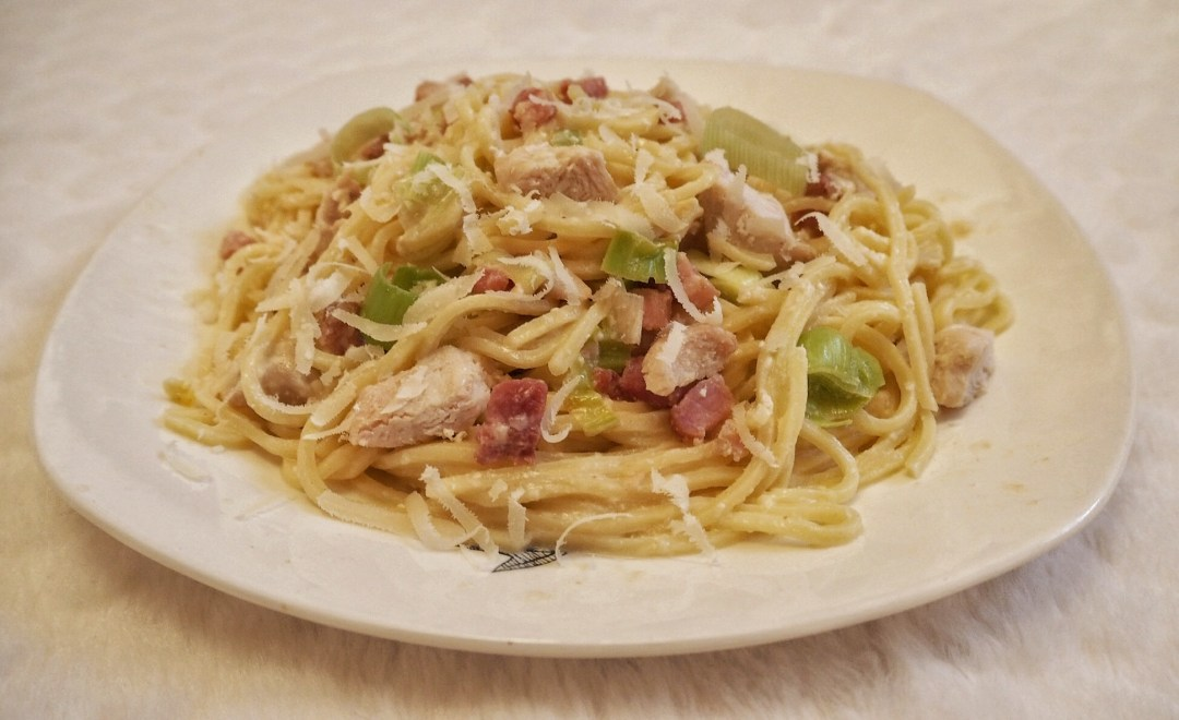 Chicken & Leeks Carbonara