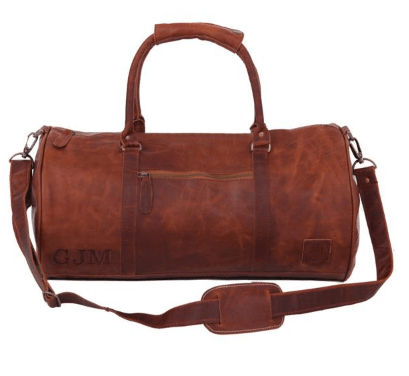MAHI Leather Duffle Weekend Travel Bag