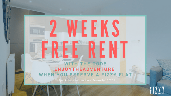 Fizzy Living London 2 weeks free rent voucher