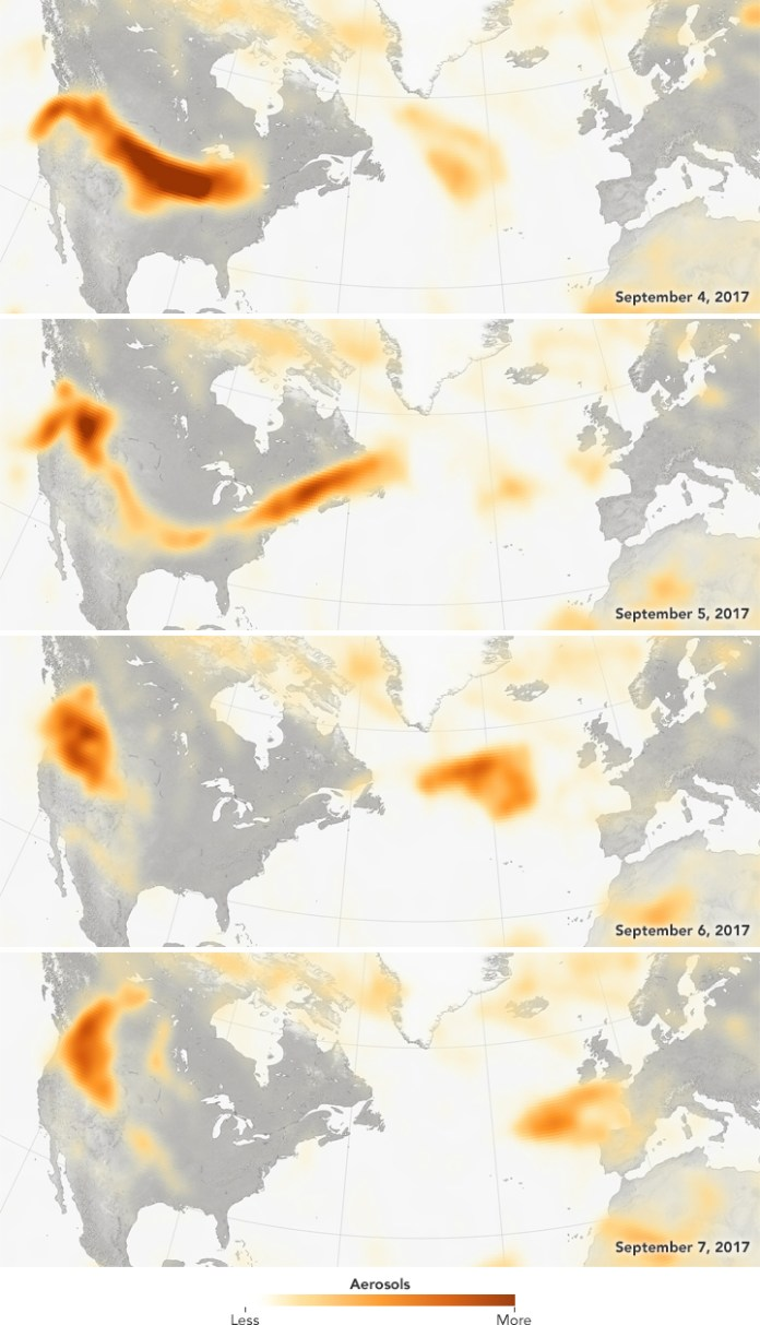 Smoke Pacific Northwest Europe