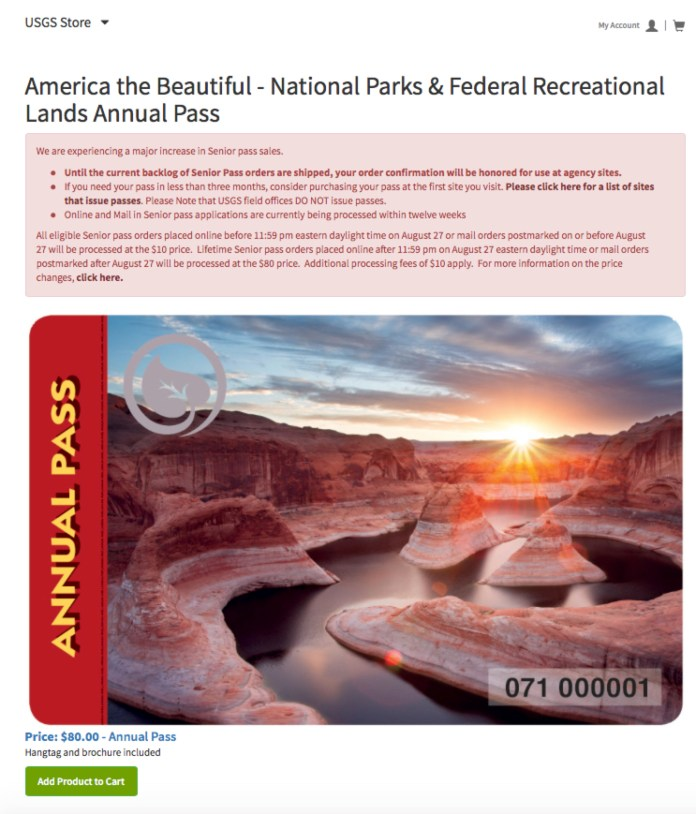 National Park Service Annual Pass
