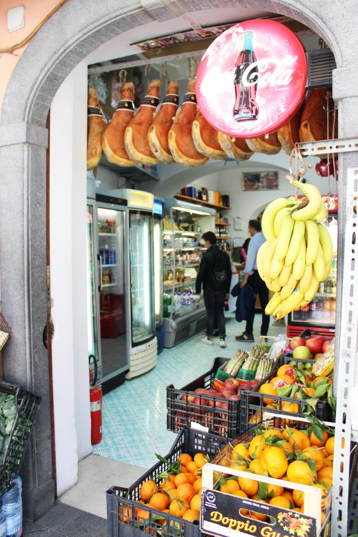 Love Affair with Positano - Fresh Produce and Ham at Grocer