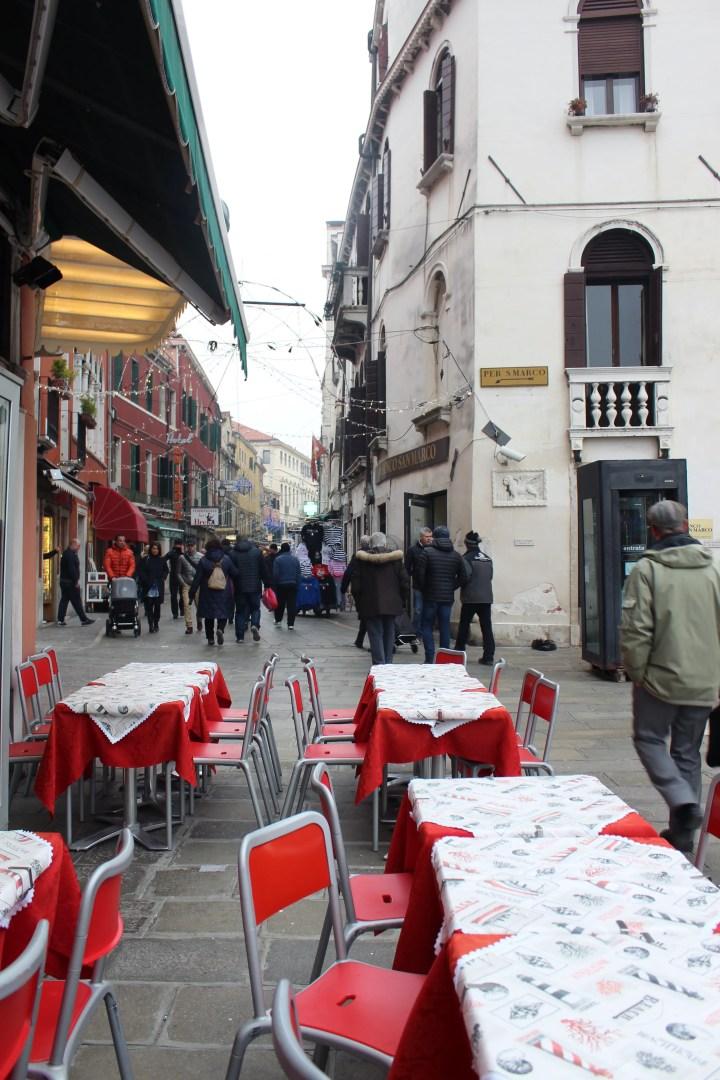 Classic Italian outdoor cafe in Venice Italy