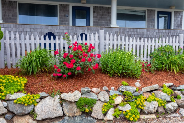 Waterfront Weekend in Chatham - Chatham Tides Inn Rock Garden