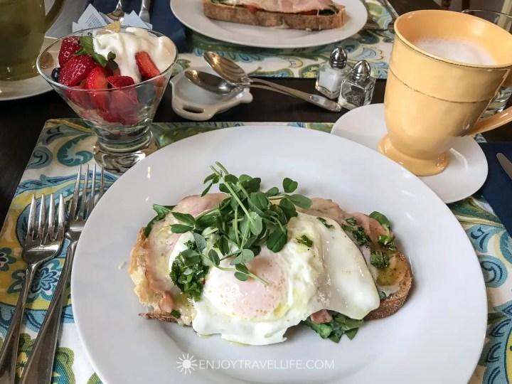 The Parsonage Inn Orleans Cape Cod Outer Cape Escape breakfast eggs