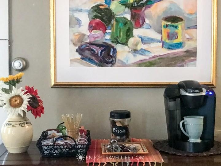 The Parsonage Inn Orleans Cape Cod Outer Cape Escape Coffee service
